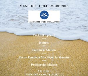 Menu Nouvel An La Mouette